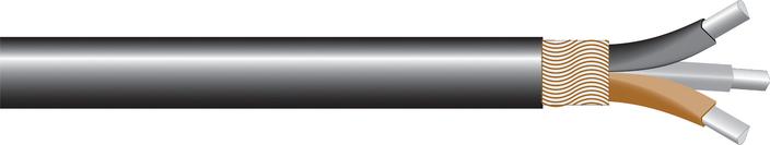 Image of AL 3-core waveform CU sne cable