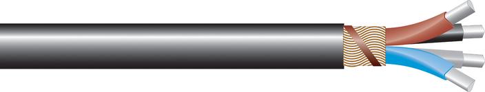 Image of AL 4-core waveform Cu sne cable